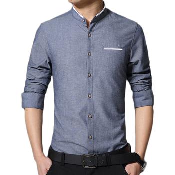 Марка мужская с длинным рукавом особого ухода свободного покроя хлопок воротника тонкий рубашка Camiseta Masculina Camisa социальной Camisas хомбре