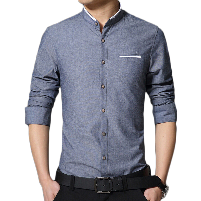brand mens long sleeve easy care casual shirt cotton