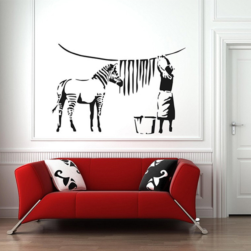 Home decor picture more detailed picture about banksy for Diy room decor zebra