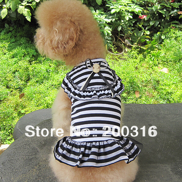 New Cute three color selection  Student style dogs dress Free Shipping 2013 new design
