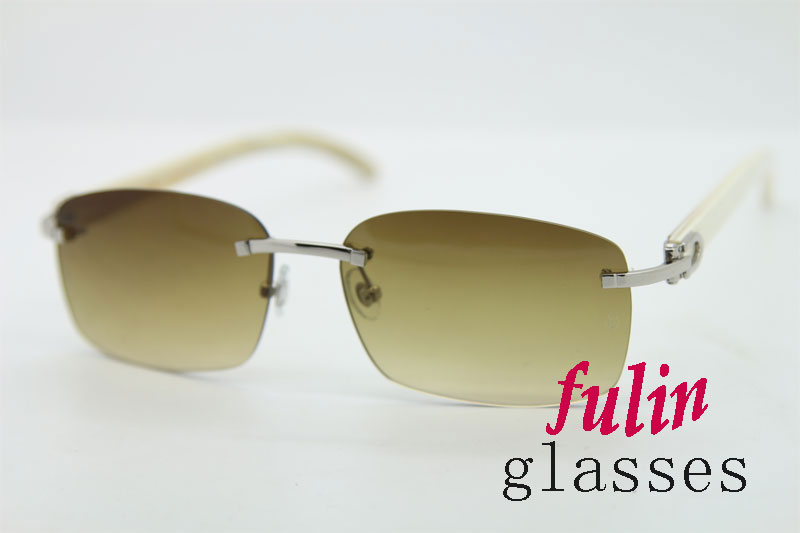 Manufacture Wholesale White Buffalo Horn Sunglasses 8200759 or 8200760 Size 60-18-140mm