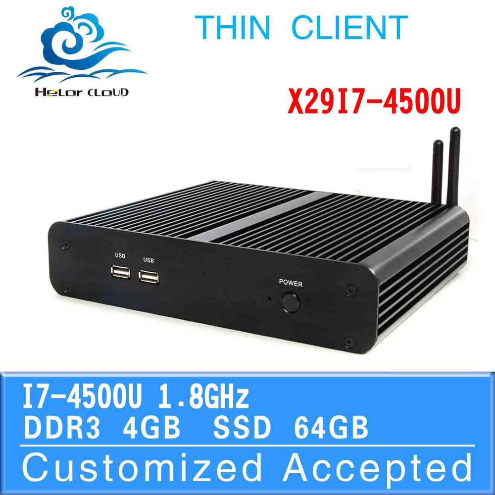 Hot sale i7 thin client x29-i7 4500u network 4g ram 64g ssd support bluetooth 3G wifi fanless industrial mini pc station(China (Mainland))