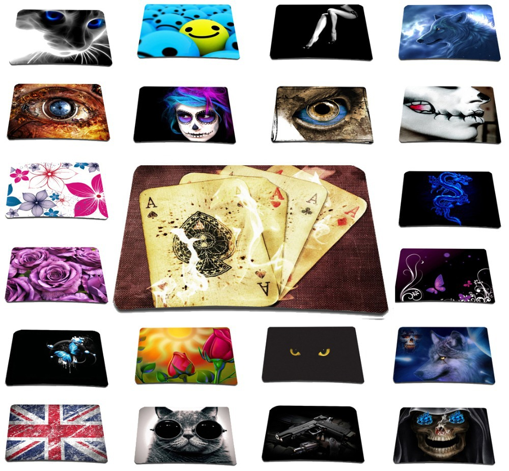 Free Shipping Interesting Poker Mousepad For Notebook Computer Anti-slip Mouse Pad Brand New Laser Mice Mat For Trackball Mouse(China (Mainland))