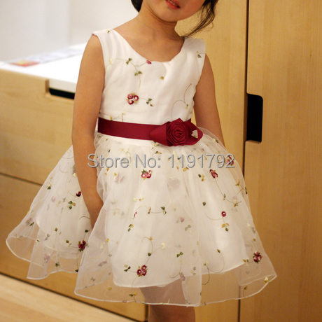 Princess Lovely Scoop Neckline Flower Girl Dresses A-Line Cheap Girl Dress for Wedding Party or Special Occasion Gowns(China (Mainland))