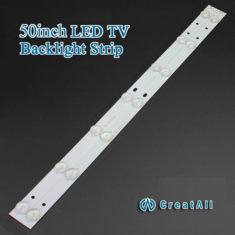 10pcs x 50 inch Aluminum Plate LED Strips w/ Optical Lens Fliter TV Panel Backlight Lamps Length 481mm 7pcs LED(China (Mainland))