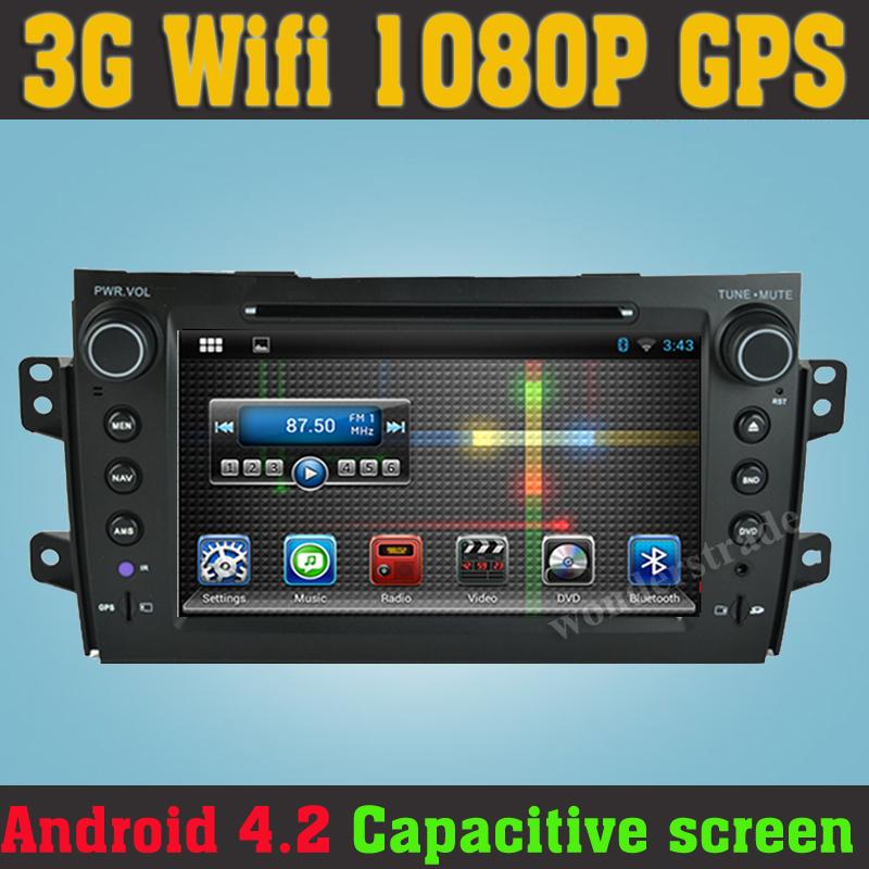 Android 4.2 Car DVD player Radio GPS Navigation car stereo Suzuki Sx4 2006 2007 2010 2011 2012 / 3G wifi capacitive screen - HongKong Summit Trades & Technology Co., Ltd store