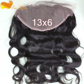 "Free Shipping Top Grade 100% Human Hair Brazilian Virgin Hair Lace Frontal Closure 13X6 "" Body Wave Nautral color Instock"