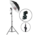 Photography Studio Kits 220V Single Bulb Socket Holder Black Silver Umbrella Light Stand Photo Studio Set