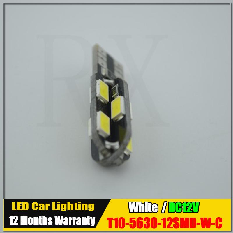 1 шт. T10 192 W5W 12 из светодиодов 5630 5730 СМД автостоянка свет авто габаритные огни Canbus нет ошибка DC12V