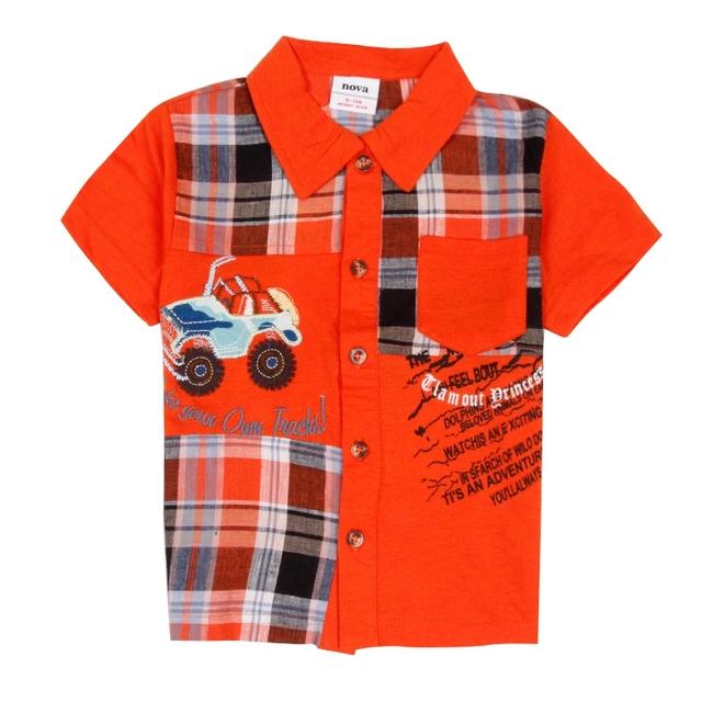 Мальчик рубашки дети рубашка с коротким рукавом рубашки мальчиков одежда для лета 2016 новое прибытие топ