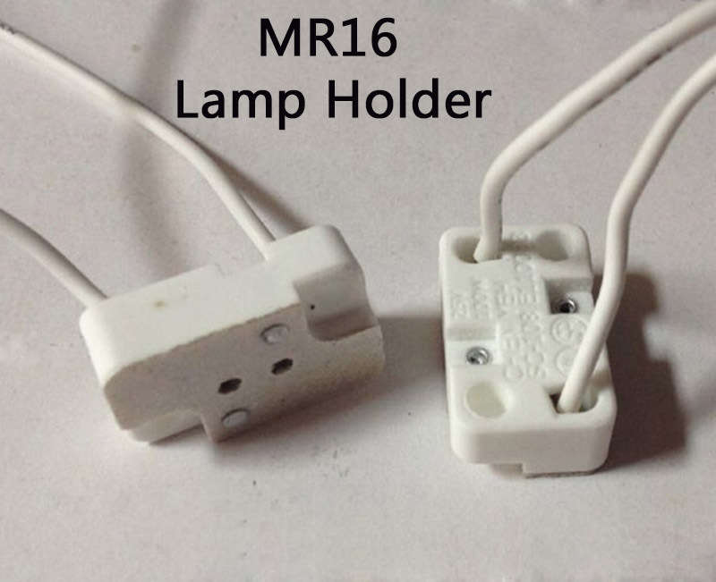 (5pcs/lot) MR16 Lamp Bases,Take The Power Cord,Square Pottery and Porcelain Lamp Holder<br><br>Aliexpress