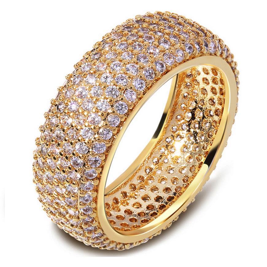 Super zircon Engagement Ring 2016 hot selling wedding jewelry fashion female CZ diamond ring 18 k real gold plated women ring(China (Mainland))