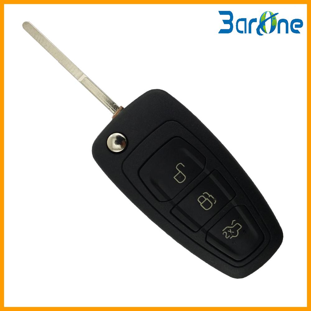 3 button folding uncut flip key blank car key fob shell case for Ford Focus 2012 key(China (Mainland))