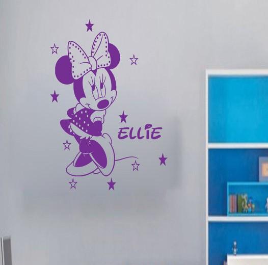 Etiqueta de la pared de los nombres del bebé minnie al por ...