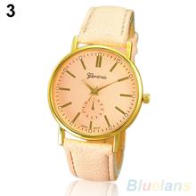 Women s Fashion Geneva Roman Numeral Faux Leather Quartz Analog Wrist Watch 2BPB