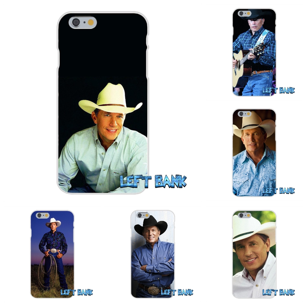 George Harvey Strait American music producer Soft Silicone TPU Transparent Cover Case For iPhone 4 4S 5 5S 5C SE 6 6S 7 Plus(China (Mainland))