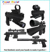2015 новый Масштаб 1:1 Desert Eagle Пистолет 3D Бумажные Модели Игрушки для Детей Взрослых «монтажные Пистолет Оружие Бумажные Модели + 12 оборудования