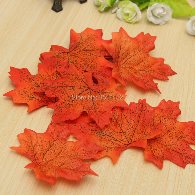 100pc artidicial maple autumn leaves fall leaf wedding art for Arland decoration