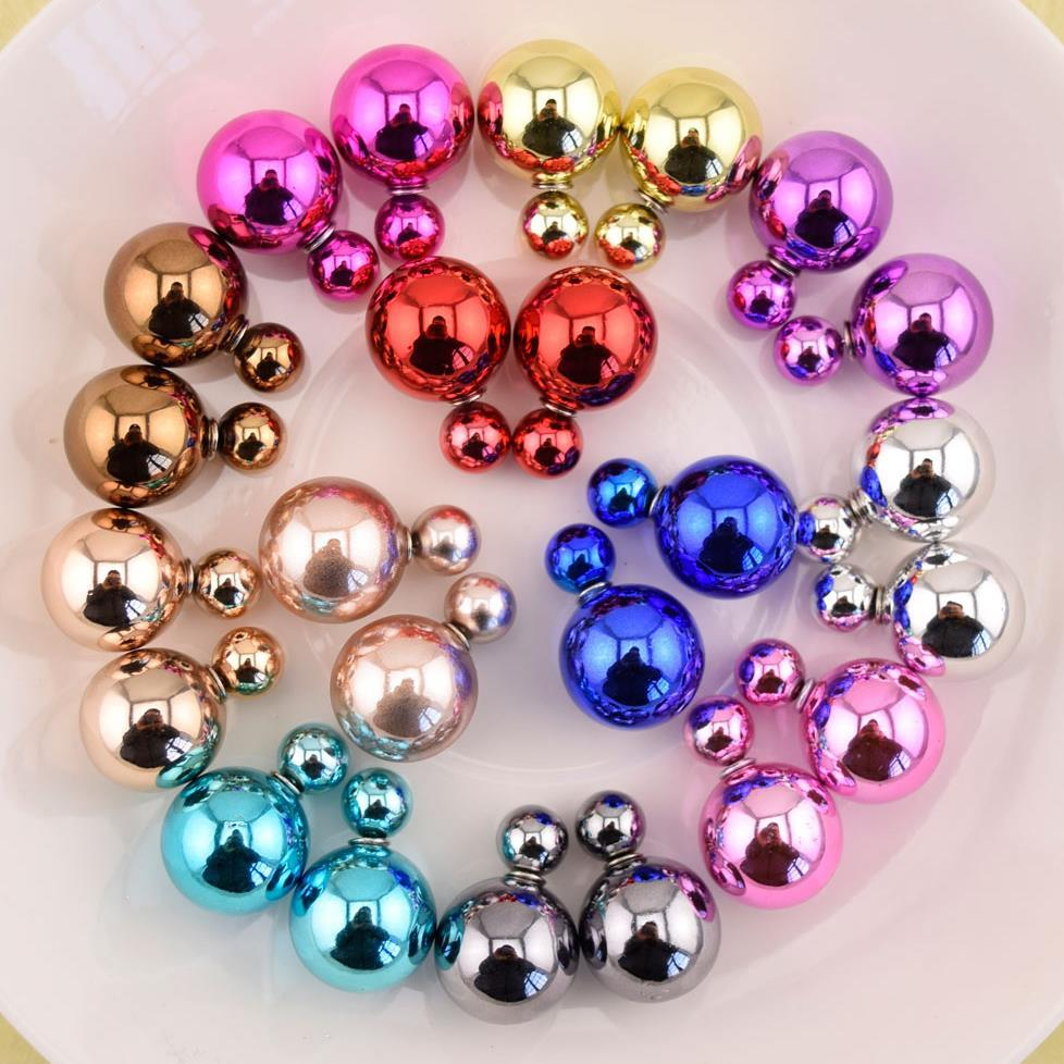 Italina Rigant 2015 Newest Arrival Unique Simulated Pearl Stud Earrings New Design Wholesale Top Quality(China (Mainland))
