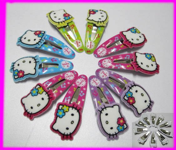 Free Shipping A pari Hello Kitty hair clamp headband girl hair clip Free shipping kid's gift different color HOT SELL!(China (Mainland))