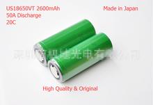 Us26650vt батарея 3.7 В 2600 мАч поддержка-20c 50A Dicharge VT аккумулятор для Sony электронные сигареты Makita инструменты