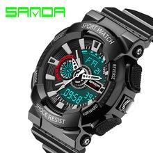 2016 sanda Quartz Digital watches men watch waterproof sport military G style S Shock watch men's luxury brand relogio masculino
