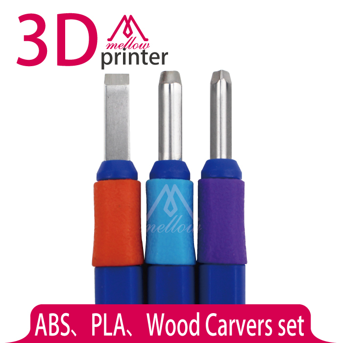 3PCS Wood Carvers set 3D Printer DIY Tool Kit ABS and PLA Carving knife graver for