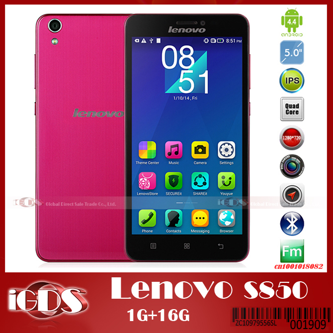 "Original Lenovo s850 MTK6582 Quad Core 5.0"" IPS Screen Cell Phone 1.3GHz android 4.4 13MP camera 3G WCDMA NFC GPS smartphone(China (Mainland))"