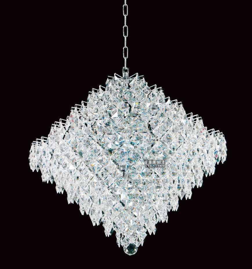 Contemporary home crystal chandelier chandelier with for Modern crystal chandelier for dining room