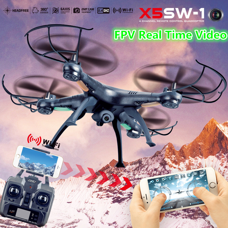 Drones X5SW X5SW-1 WIFI RC Drone Quadcopter with FPV Camera HD Dron Headless 6-Axis Real Time RC Helicopter Quad copter Kid Toys(China (Mainland))