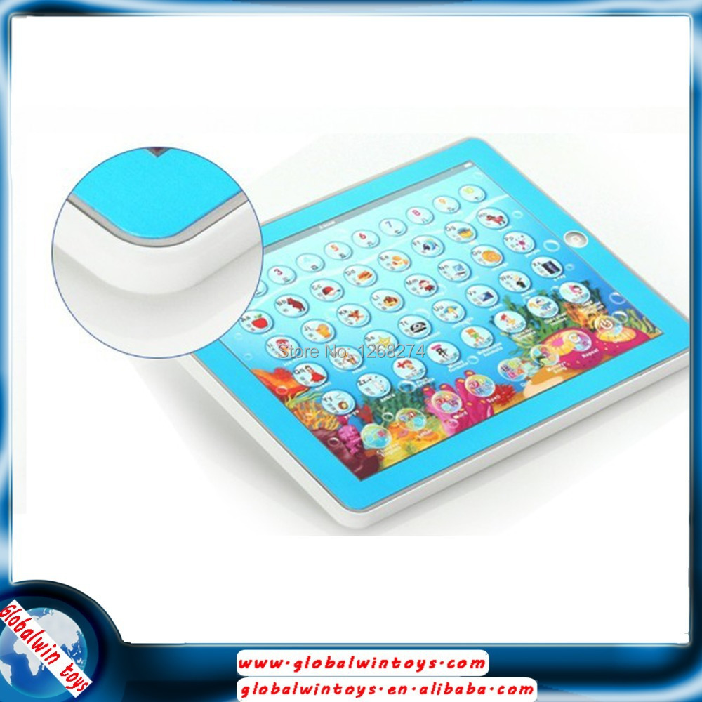 Free Shipping pad toys english Learning Machine Y PAD educational baby toys Music and Led Light pink and blue color hot sale(China (Mainland))