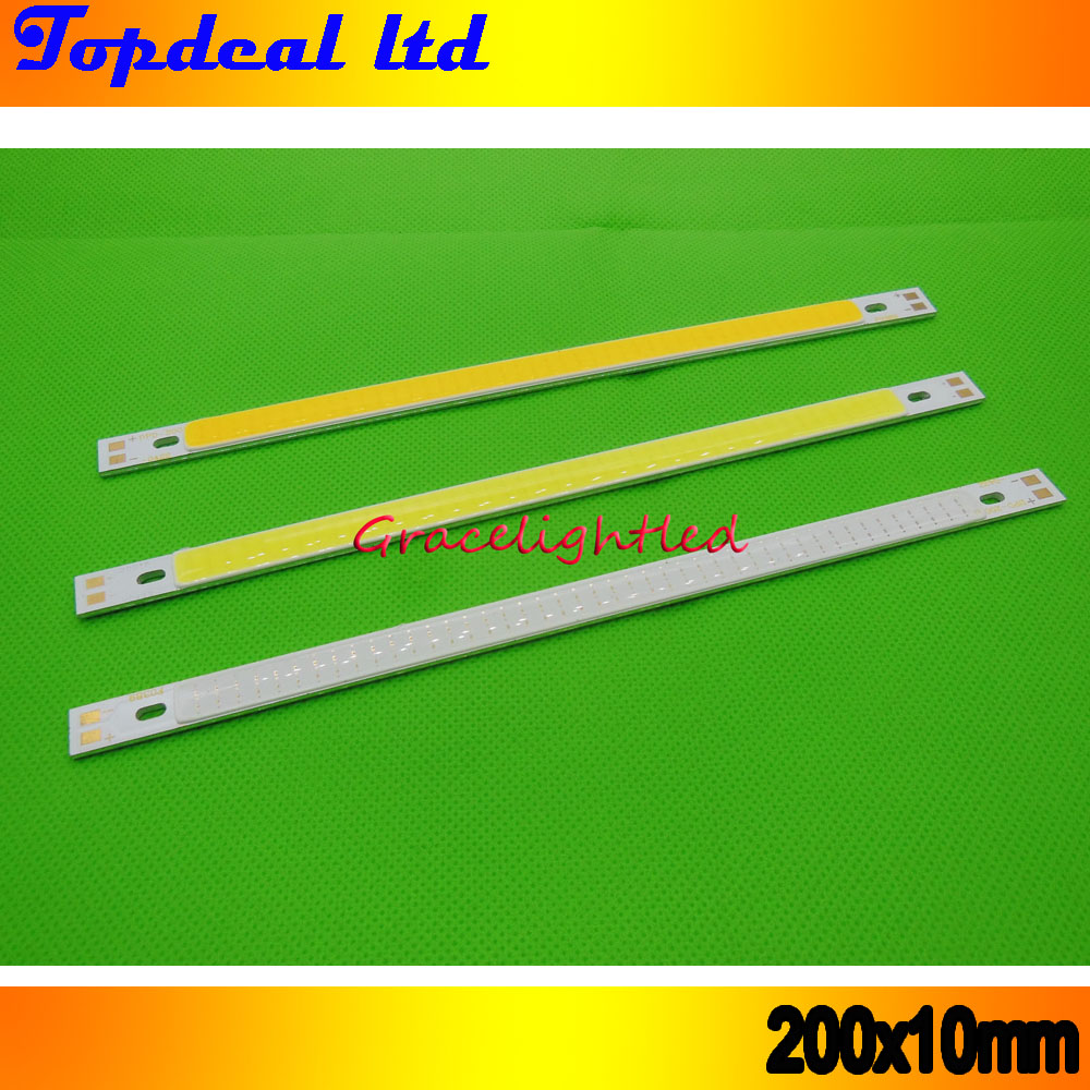 1pc super bright 200*10mm COB LED Light Strip 10W CRI 12V diode strip for Warm white /white blue DIY lighting project(China (Mainland))