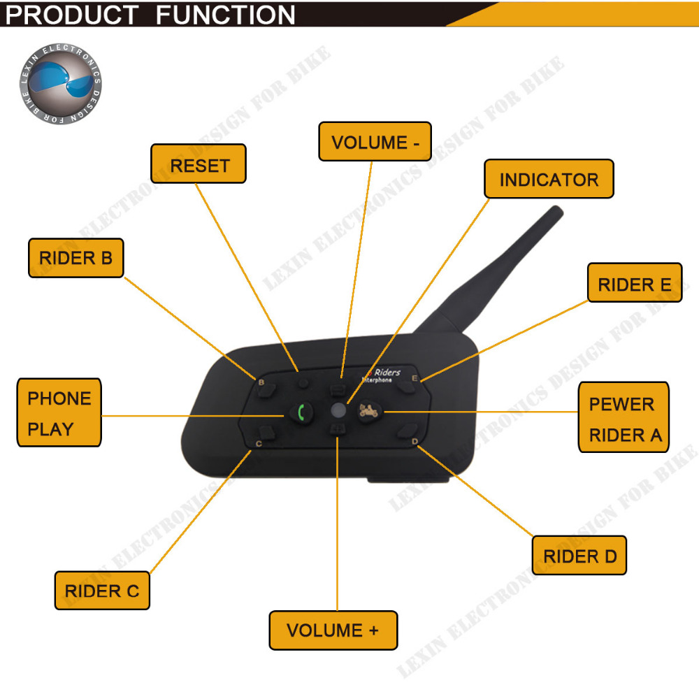 Wholesale 1200M Bluetooth helmet Intercom Motorcycle wireless BT interphone upto 6 Riders headset intercomunicadores de motos(China (Mainland))