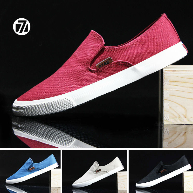US6--US10  British style Mens Casual Breathe Freely Canvas Fashion Sneakers Slip On Loafer <br><br>Aliexpress