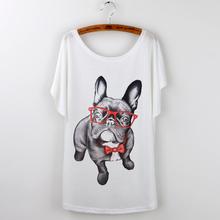 Buy Summer Tops 2017 Funny Pug Print Women T-Shirt Female White Camisetas Tops Loose T Shirt French Bulldog Tee Shirt Femme Tshirt for $5.12 in AliExpress store
