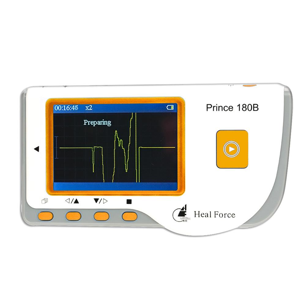 Prince 180B Heal Force ECG Monitor Professional Handheld LCD Heart Monitor Electrocardiogram Monitoring Machine Health Care
