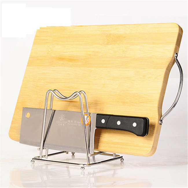 Storage Rack Creative stainless steel lid chopping block storage rack An indispensable tool for the kitchen12*13cm 328G H-39(China (Mainland))