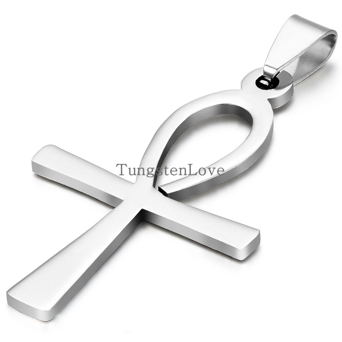 Hot 2015 Men Jewelry Silver 316L Stainless Steel Stainless Steel Egyptian Ankh Cross Mens Womens Pendant Necklaces collares(China (Mainland))