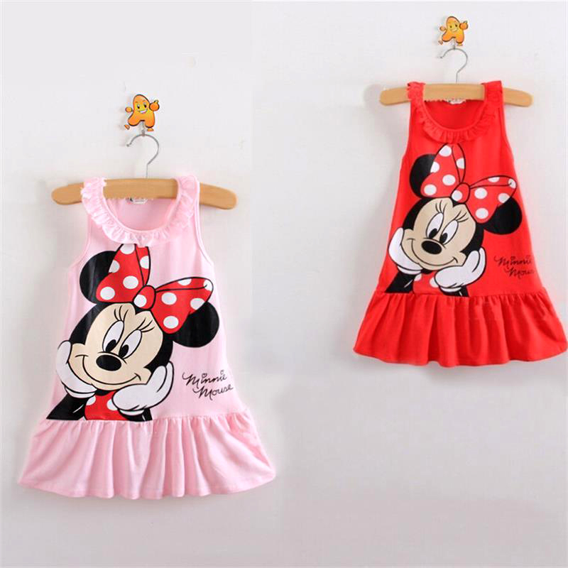 Minnie girl dress Hello Kitty girl clothes summer kids dresses for girls tutu princess party dress cotton baby children clothing(China (Mainland))