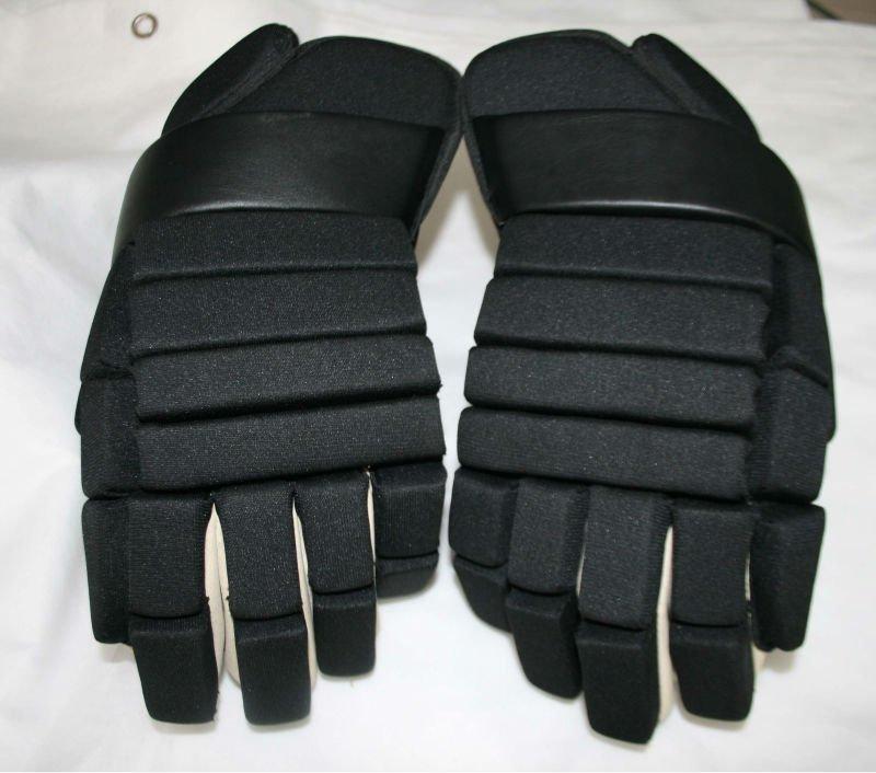 """Custom ice Hockey glove 14"""" inches winter new black stock return(China (Mainland))"""
