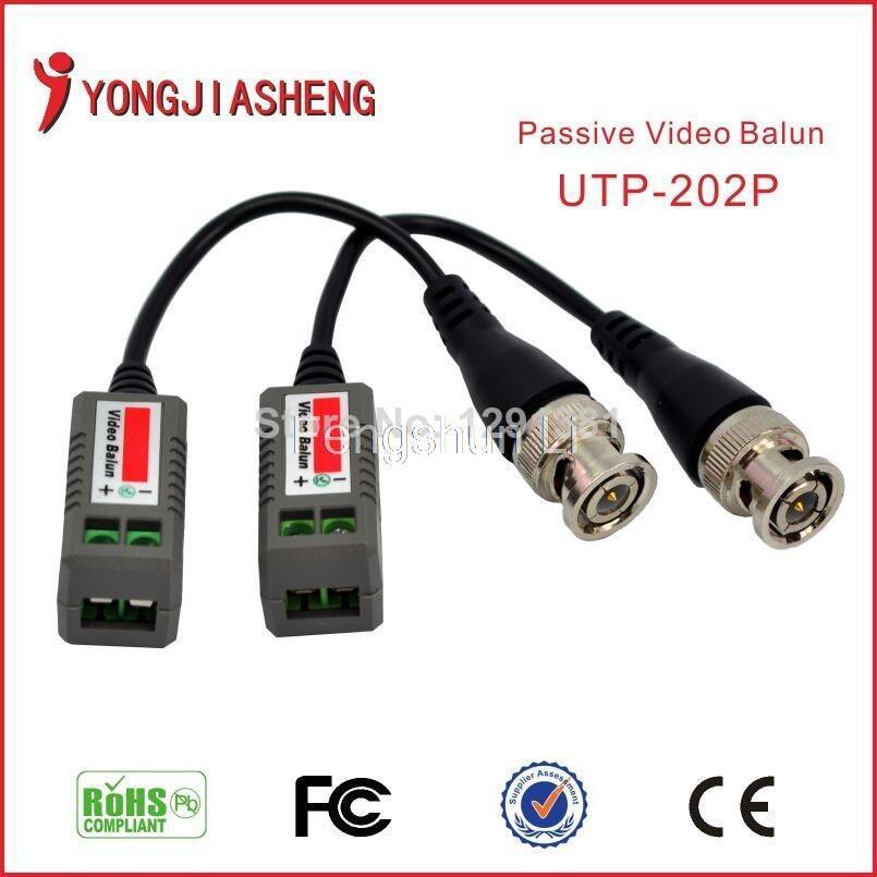 20PCS/10PAIRS Twisted VIDEO BALUN Passive Transceivers CCTV DVR camera BNC Cat5 UTP Security Video Balun(China (Mainland))