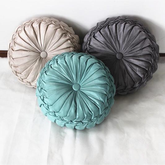 VEZO HOME handmade round sofa decorative cushions plush ...