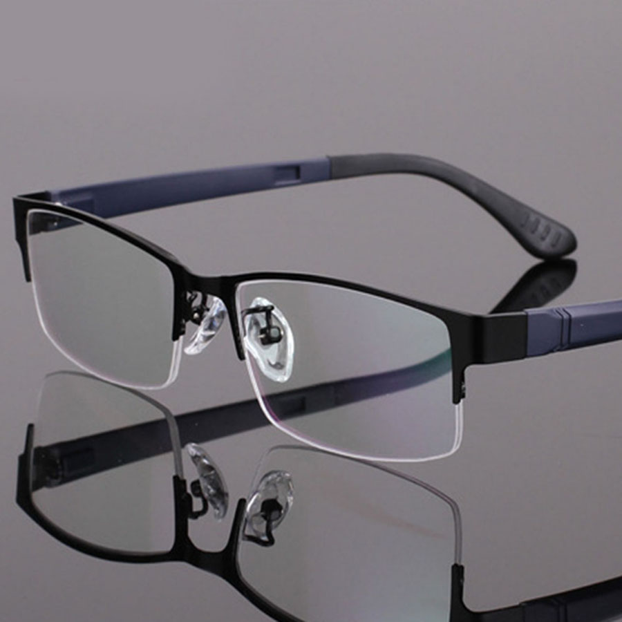 Mens lightweight fashion glasses frame myopia frame metal ...