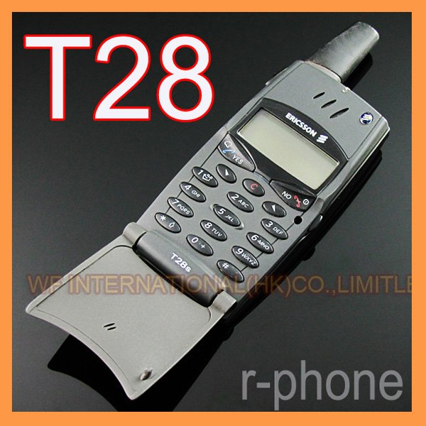 Refurbished Original Ericsson T28 T28s Mobile cell Phone 2G GSM 900/1800 Unlocked Black & Can't use in USA(China (Mainland))