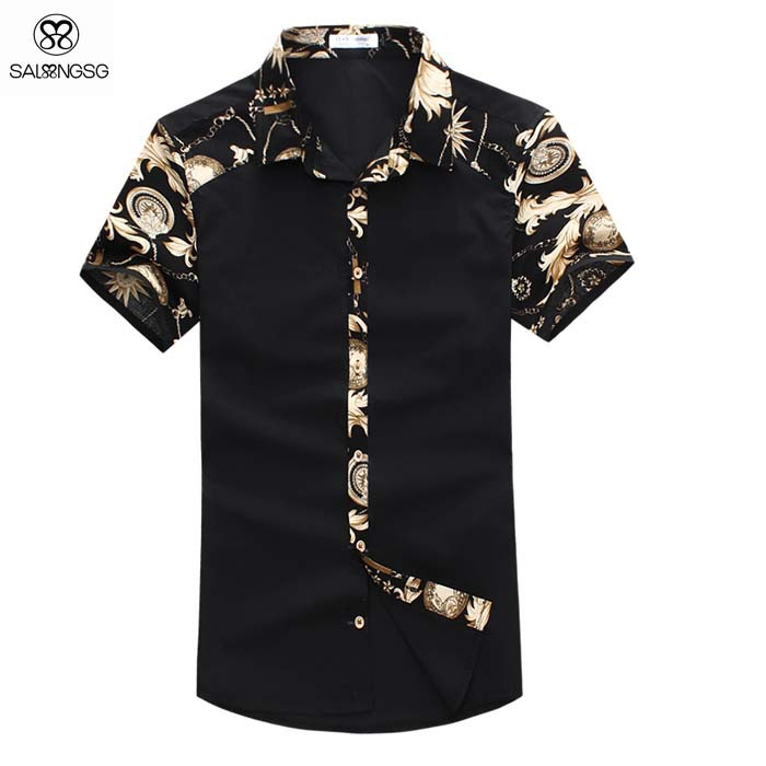 Men Short Sleeve Shirt Brand Designer Camisa Cotton Men 5XL Shirts Solid Color Mens Dress Shirts