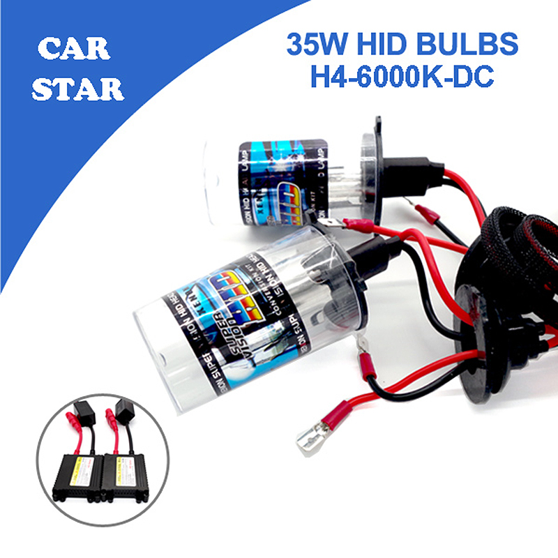 YUMSEEN H4 Xenon HID Conversion Kit 35W 6000K With Slim DC Ballast Waterproof Car light source Big Promotion for Audi(China (Mainland))