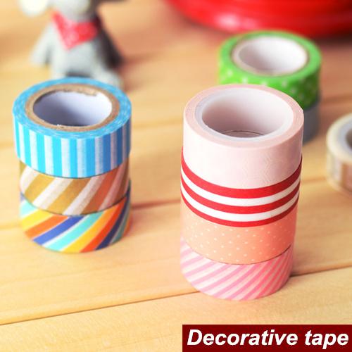 6 pcs/Lot Mini paper tape Japanese decorative tape Washi masking tapes Scrapbooking tools zakka Stationery School supplies 6535(China (Mainland))