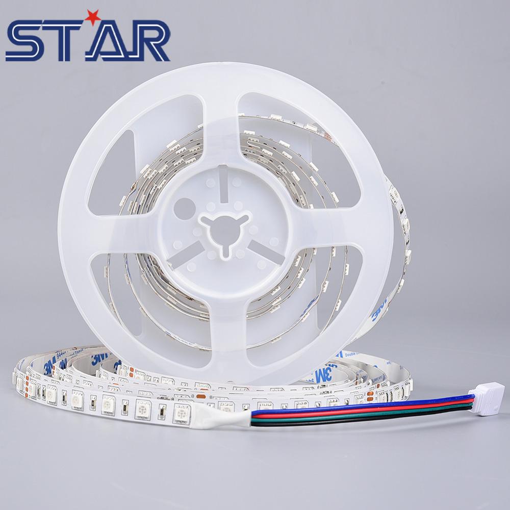 5m Flexible LED Strip Light SMD5050 DC24V 60leds/m Non Waterproof Holiday Party Lighting Ledstrip Tape Lamp Home Decor W/WW/RGB(China (Mainland))