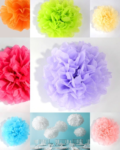 3 Pieces 15inch 38cm Tissue Paper Pom Poms Party Wedding Home Outdoor Flower Shower Xmas Balls Decor Free Shipping 11 Colors(China (Mainland))