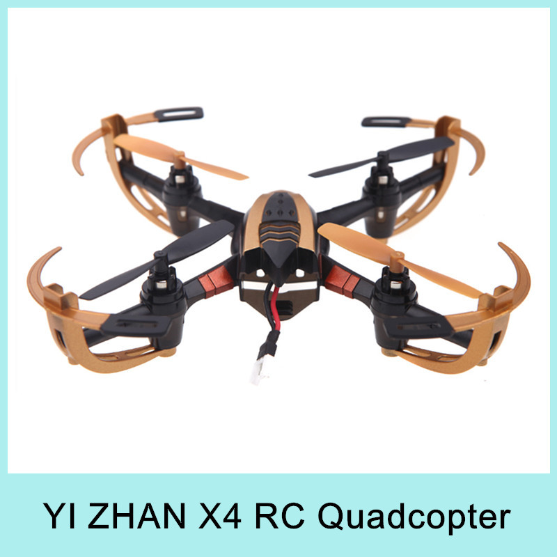 Yizhan X4 4CH 6 Axis Radio Remote Control RC Quadcopter UFO 3D Flying Helicopter + 2.4G Transmitter with LCD Display Golden 2015(China (Mainland))